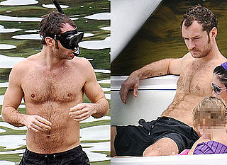 Photos of Jude Law Shirtless in Brazil