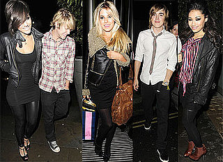 Dougie Poynter (McFly) and Frankie Sandford (The Saturdays) Celebrate Her 20th Birthday With Tom Fletcher and bandmates