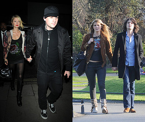 Paris Hilton with Good Charlotte in London, Mischa Barton with Rooney in Dublin