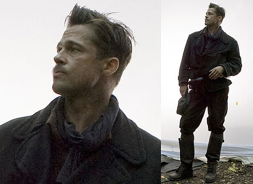First Photos Of Brad Pitt on the Set of Tarantino's Inglorious Bastards a.k.a. Inglourious Basterds