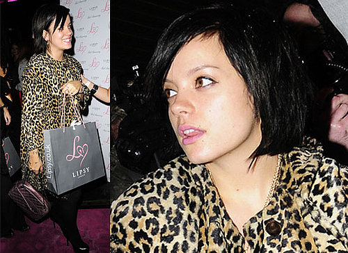Photos of Lily Allen In A Leopard Print Coat At Lipsy Store Opening