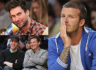 Photos Of David Beckham at LA Lakers Game