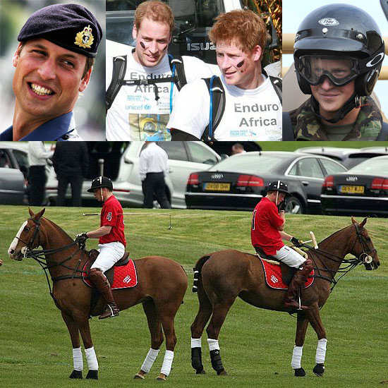 Photos of Prince William and Prince Harry Throughout 2008