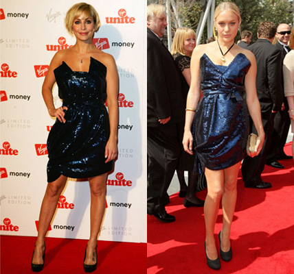 Natalie Imbruglia and Chloe Sevigny in Blue Sequined Dress, Preen, 2008 Autumn
