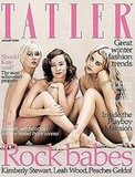 Peaches Geldof, Kimberly Stewart and Leah Wood on the Cover of Tatler, January 2009