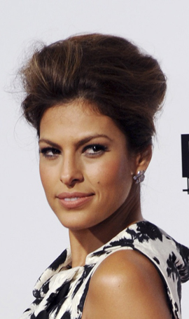 Photo of Eva Mendes Bouffant Retro Hair and Nude Makeup at The Women Premiere: Love or Hate her Beauty Look? Calvin Klein Ad