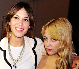 Photo of Alexa Chung and Peaches Geldof in Front Row at Topshop Unique Show London Fashion Week. Spring 2009 Whose Beauty Style?
