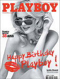 Lydia Hearst Models For French Playboy Magazine