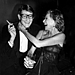 1978: Nan Kempner and Yves Saint Laurent at a launch party for Opium perfume.