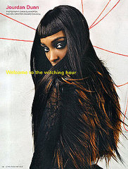 Jourdan Dunn Winks, Blinks, and Nods at Naomi Campbell for September 2008 i-D