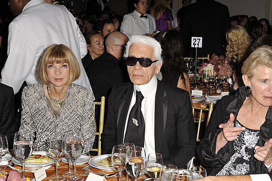 Anna Wintour, Karl Lagerfeld.
