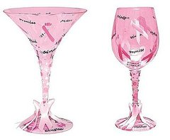 These are the Pink Ribbon glasses available January 2009