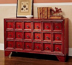 Campton Smart Console Table has so many little drawers so you never have an excuse of not being able to put anything away! This 