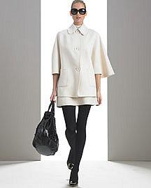 MICHAEL KORS Cashgora Cape Coat & Sleeveless Panel Dress