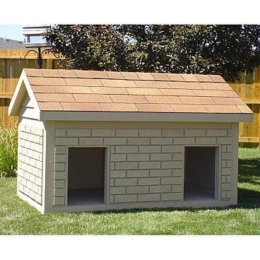 Hi-Tech Small Duplex Insulated Dog House - Dog Houses at Dog Houses