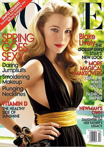 Vogue US February 2009: Blake Lively by Mario Testino