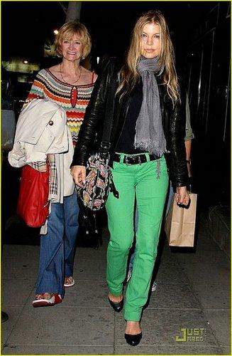 Fergie in green