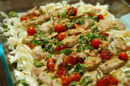 Tuna and Tomato Salad w/ Ginger Dressing. This turned out tasty and light. Recipe from: Greatest Ever Thai by Parragon