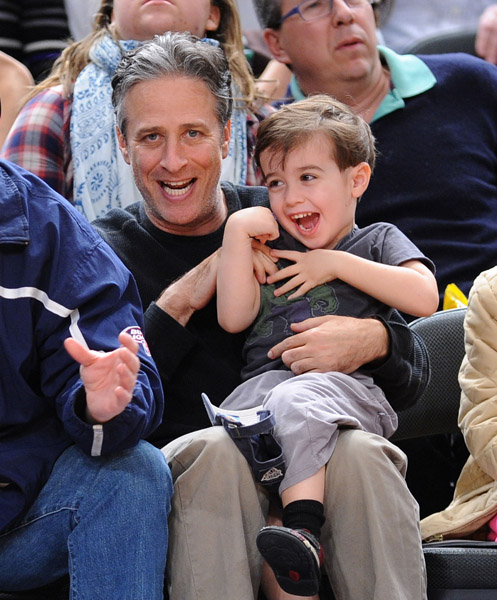 Jon Stewart and Son