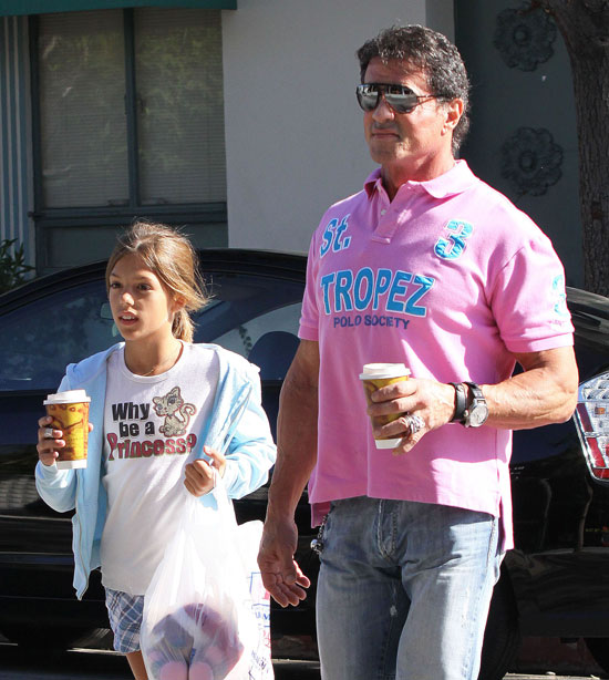 Sly Treats His Princess to a Walk and a Coffee