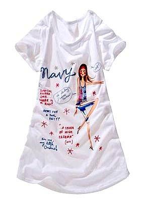 Summer Girl's Scribble White T-Shirt