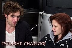 Twilight Chatlog photos of Rob and Kristen
