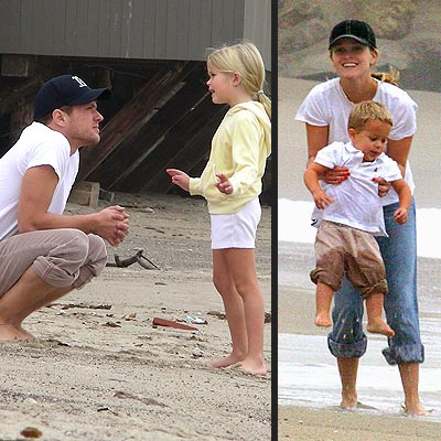 The Phillippe Family At the Beach