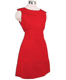 Retro Cherry Red Mod Mini Dress by Tulle Clothing