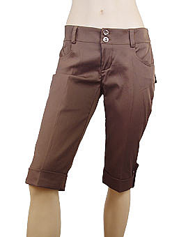 Fawn Brown Capri Pants by Rinascimento ($20)