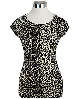 Leopard Print Long Stretch Tee ($20)