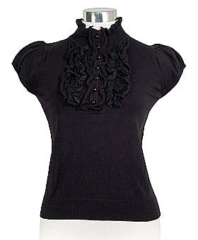 Black Victorian Valerie Top by Nick &amp; Mo ($42)