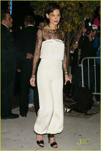 Katie Holmes wears her own design!