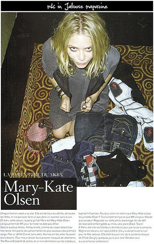Mary-Kate in French magazine Jalouse