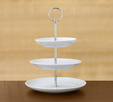This Great White 2-Tier Stand ($45) offers another option to the metallic stand.