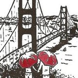 If you've ever watched the sun set from the Marin Headlands overlooking the Golden Gate bridge, this limited-edition San Francisco Love gocco print ($15) is for you.