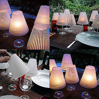 DIY Wine Glass Candle Lampshades