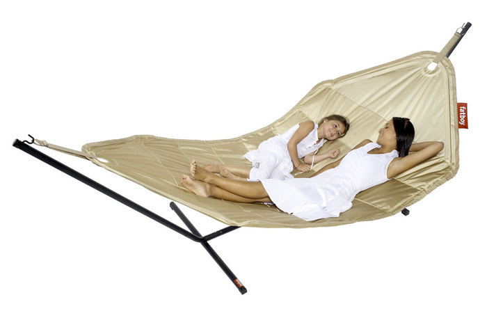 Relax outdoors with this supersized and super-comfortable Fatboy Hammock ($399).