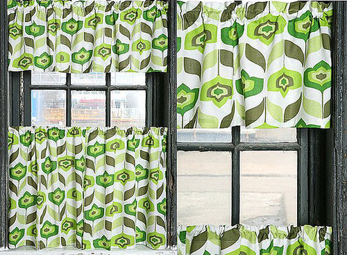 Nice and New:  Swedish Geo Window Valance