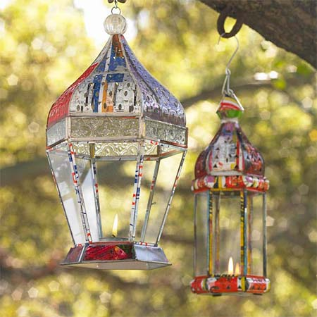The Misprint Lanterns ($39-$59) are made from misprinted cans of soda! Pretty clever, and they'll also look perfectly pretty glowing from your backyard at a Summer evening party.