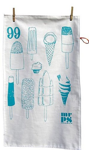 Etsy Find: Ice Cream Lollies Tea Towel