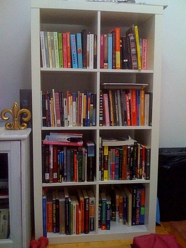 Before and After: A Color-Coordinated Bookcase