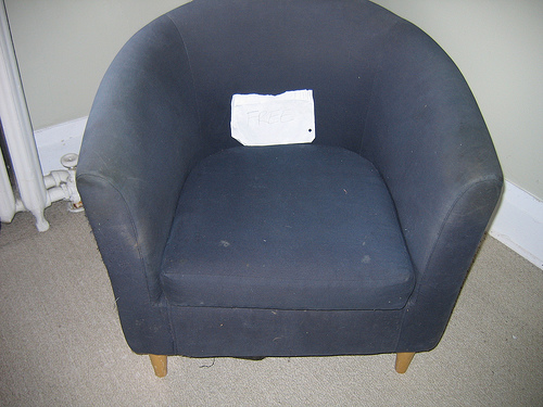 Before and After:  A Free Ikea Chair Gets a Facelift