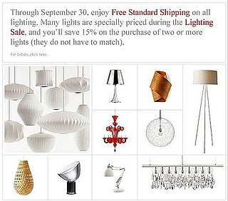 Sale Alert: Lighting Sale at Design Within Reach