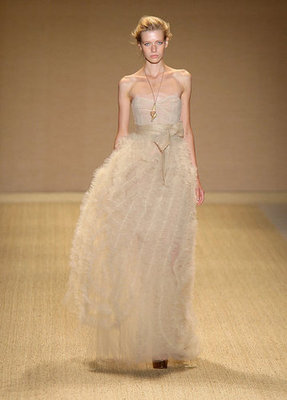 This flowy, feathery gown is like wearing a cloud.