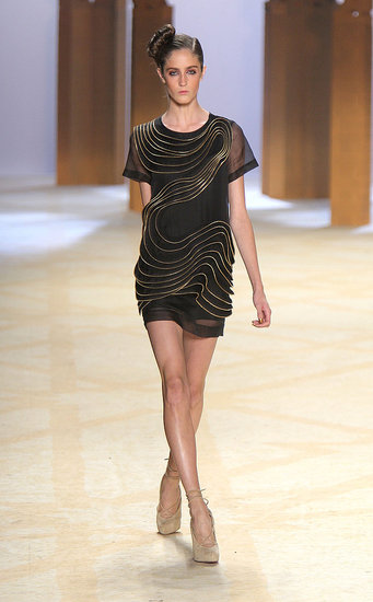 I love the sculptural element to the LBD.