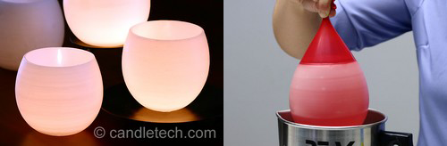 DIY: Water Balloon Candle Holders