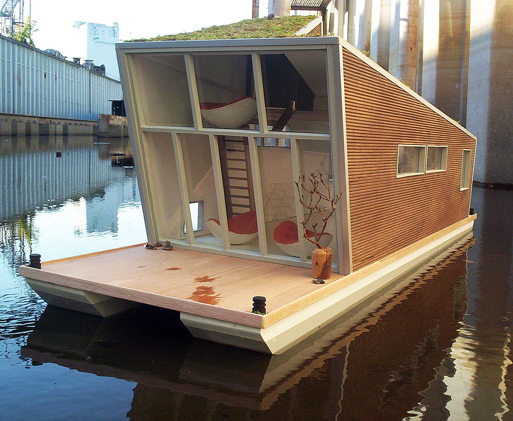 Unlike most houseboats, this home features a second floor, offering privacy and a less-restricted feeling.