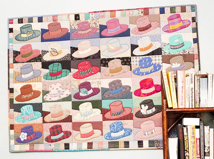 The Homburg goes psychedelic in a quilted wall hanging.