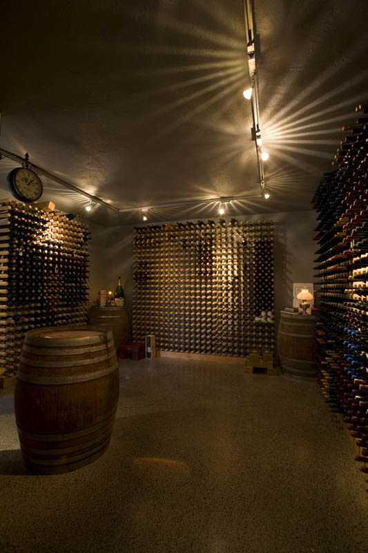 This substantial wine cave, which is located off the lounge, can hold plenty of native New Zealand wine — the country is known for its sauvignon blanc.