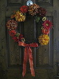 Make a Fall wreath with silk flowers like one of our Su Casa members!